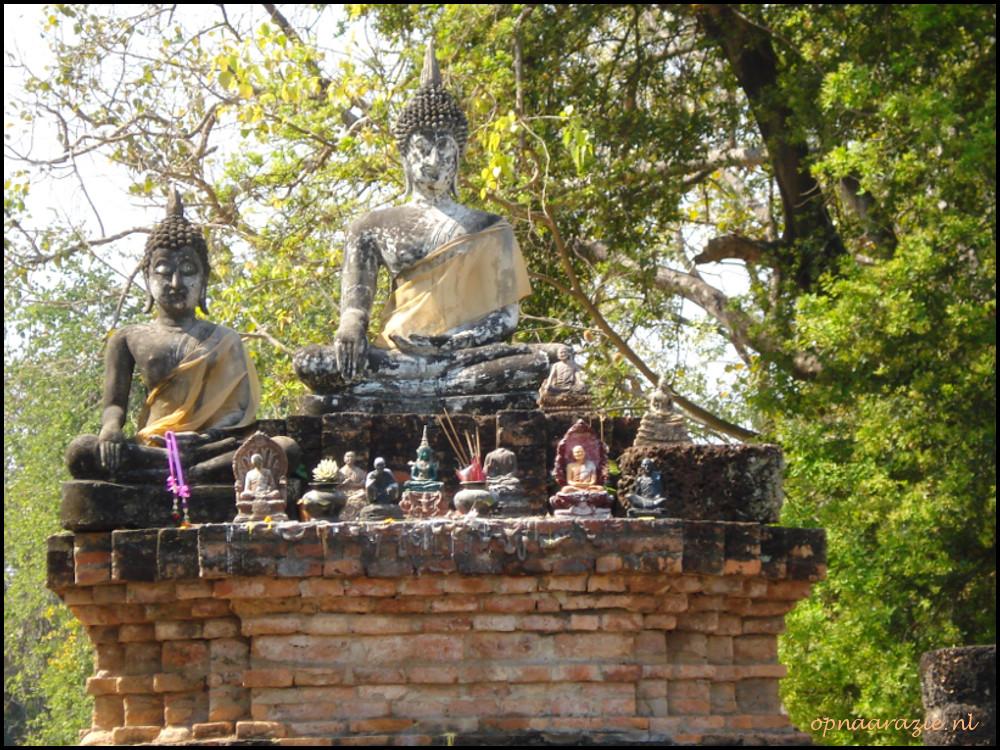 boeddhabeelden in sukhothai