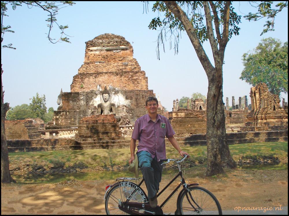 fietsen in Sukhothai